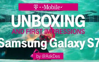 T-Mobile posts Galaxy S7 and S7 edge unboxing video completely underwater
