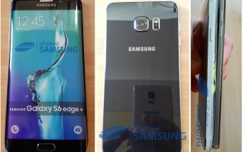 Samsung Galaxy S6 edge+ dummy poses for the camera