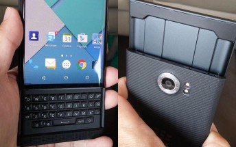 Blackberry Venice live unit pictured, packs an 18MP OIS camera