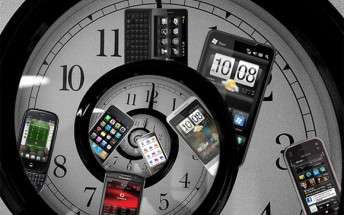 Counterclockwise: LG Viewty, Cookie and Arena, Samsung Star, Nokia 3G Booklet