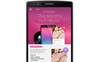 LG announces its own high resolution music service for LG smartphones