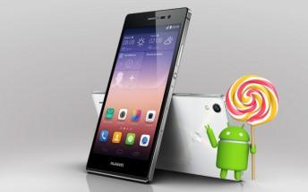 Huawei Ascend P7 starts getting Lollipop