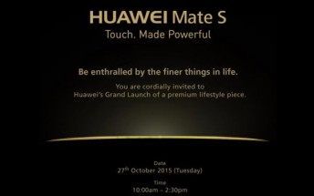 Huawei Mate S Malaysia launch confirmed for next week
