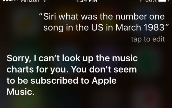 Siri requires Apple Music subscription to answer music-related questions
