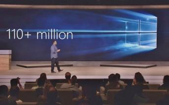 110 million devices now run Windows 10