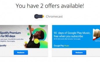 Chromecast owners being offered 3-months Spotify Premium subscription for free