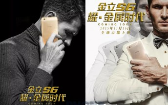 Gionee teases the Elife S6 ahead of its November 16 unveiling
