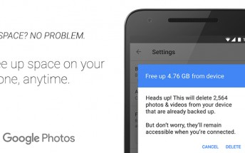 Google Photos for Android now lets you easily free up space by deleting backed up pictures