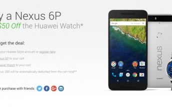 Huawei offering $50 off on its smartwatch if you purchase it along with Nexus 6P