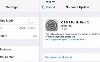 Apple releases second public beta of iOS 9.2