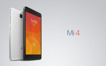 Xiaomi Mi 4 passes through FCC