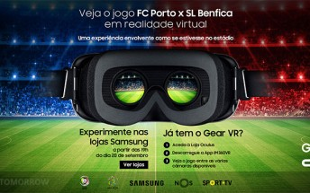 Football and surfing events broadcast for Samsung Gear VR in Portugal