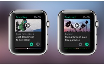 Vine now works on the Apple Watch
