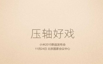 Xiaomi schedules an event for November 24; Mi 5 expected