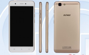 Gionee F105 with 5-inch display and quad-core CPU passes through TENNA