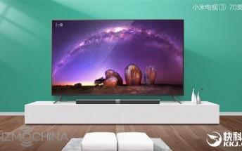 Xiaomi launching 70-inch Mi TV 3 variant