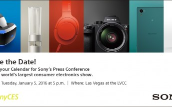 Sony sets date for CES 2016 press conference