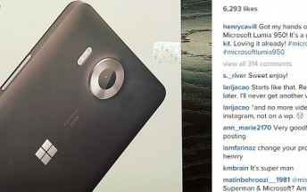 Henry Cavill, also known as Superman, now owns a Lumia 950