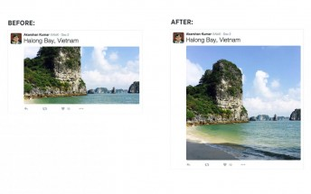 Twitter now shows bigger photos on its website