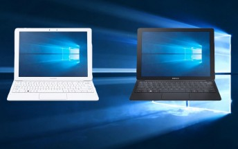 A Windows-powered Samsung Galaxy TabPRO S with keyboard surfaces