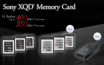 Sony announces new high-speed XQD and SD memory cards