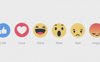 Facebook's new Like button reactions are rolling out to a device near you