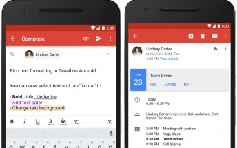 Gmail for Android gets rich text formatting and instant RSVPs