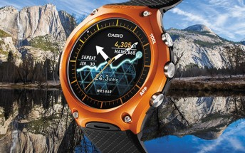 Casio's WSD-F10 rugged Android Wear smartwatch will be released on March 25