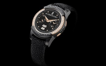 Samsung Gear S2 by de Grisogono is blinged up with diamonds, rose gold