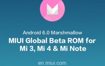 MIUI Global Beta ROM based on Marshmallow now available