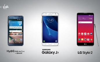 Samsung Galaxy J7, LG Stylo 2, and Kyocera Hydro Reach launch at Boost and Virgin Mobile on Friday
