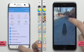 Galaxy S7 edge (Exynos) vs. iPhone 6s speedtest