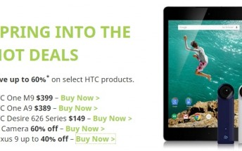 Top deals for HTC phones in the US, One M9 for $399, hurry up though
