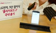 LG's new Rolly Keyboard 2 rolls up along five key rows