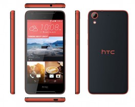 The HTC Desire 628 in purple and red