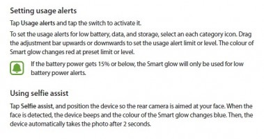 The leaked manual describes the features of Smart GLow