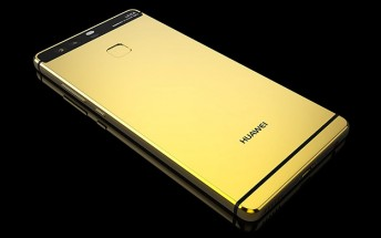 Huawei P9 gets a gold bath from Goldgenie