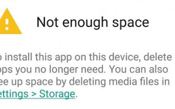 Play Store prompts you to uninstall apps if your storage is full