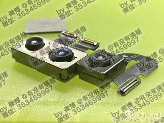 Alleged camera modules for upcoming iPhone models