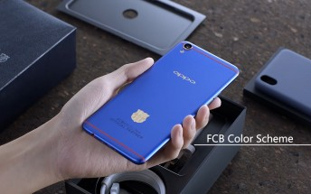 Oppo unboxes the F1 Plus Barcelona edition - we did too minus the fan gear