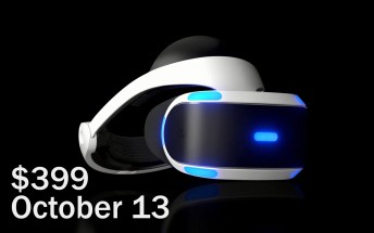 Sony PlayStation VR launching on October 13 for $399