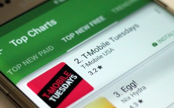 T-Mobile Tuesday app instantly #1 in App Store, #2 in Play Store