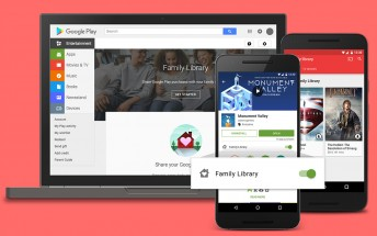 Google finally announces Play Family Library, up to six members can share purchases