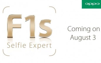 Oppo F1s becomes official on August 3 as the next 'selfie expert'
