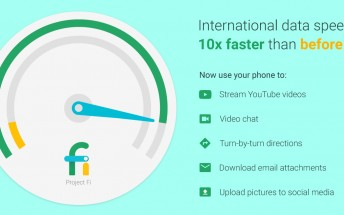 Google's Project Fi makes its data speeds ten times faster while roaming