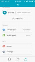 Mi Fit app and weight tracking - Xiaomi Mi Band 2 Review
