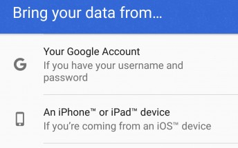 Android Nougat now offers the option to migrate from iOS, kind of?
