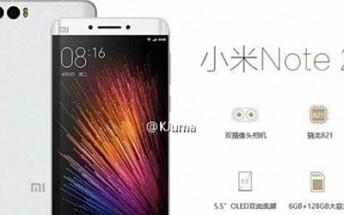 New Xiaomi Mi Note 2 leak confirms SD821 SoC, curved display, and dual-camera setup