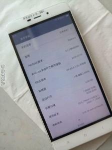 Xiaomi Redmi 4: About screen shows 2.0GHz octa-core CPU