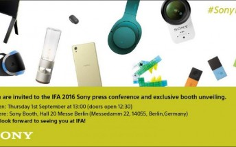 Sony's invite for its IFA event on September 1 teases many new devices